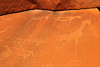 Twyfelfontein, Kunene Region, Namibia: Twyfelfontein rock carvings - animal petroglyphs - UNESCO World Heritage Site - photo by Sandia