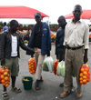 Kunene region, Namibia: selling oranges-on the road - photo by Sandia