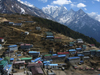 Nepal - Namche Bazar / Nemche Bazaar - Khumbu region: from above - Everest Base Camp Trek - photo by M.Samper