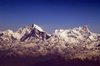 Nepal - Himalaya peaks, seen from the air - photo by A.Ferrari