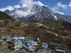 Nepal - Namche Baazar: town and mountain - Everest Base Camp Trek - photo by M.Samper