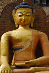 Kathmandu, Nepal: a stone statue of Buddha in meditation - photo by E.Petitalot