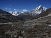 Nepal - Chukhung - Khumbu region: valley view - Everest Base Camp Trek - photo by M.Samper