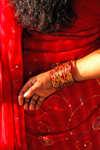 Kathmandu, Nepal: red sari and bangle detail - photo by J.Pemberton