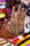 Kathmandu, Nepal: woman's hand with henna pattern - photo by J.Pemberton