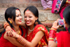 Kathmandu, Nepal: women celebrating during the Hindu women's festival, Teej - a three-day-long celebration combining both banquets and fasting - photo by J.Pemberton