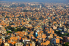 Kathmandu, Nepal: view over Kathmandu - ocean of red bricks - photo by J.Pemberton