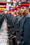 Kathmandu, Nepal: soldiers on parade in Durbar square on a festival day - photo by J.Pemberton