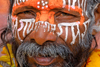 Kathmandu, Nepal: Pashupatinath Temple - Sadhu's face close up - photo by J.Pemberton