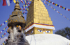 Kathmandu valley, Nepal: Swayambhunath temple - votive stupa - photo by W.Allgöwer