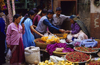 Kathmandu, Nepal: market scene - fruit section at Asan Tole market - photo by W.Allg�wer
