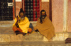 Kathmandu, Nepal: pair of Sadhus - ascetic men dedicated to achieving liberation (moksha) through meditation and contemplation - photo by W.Allg�wer