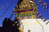 Kathmandu valley, Nepal: Swayambhunath stupa - the temple plays an important role for the Vajrayana Buddhists from northern Nepal and Tibet, and especially the Newari Buddhists of Kathmandu valley - photo by W.Allgöwer