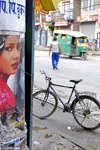 Patan, Lalitpur District, Bagmati Zone, Nepal: street scene with movie poster - photo by J.Pemberton
