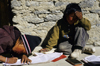 Annapurna area, Nepal: students doing their home work - photo by W.Allgöwer