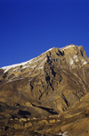 Mustang district, Annapurna area, Dhawalagiri Zone, Nepal: village under a cliff - Annapurna Himal - photo by W.Allg�wer