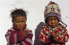 Mustang district, Annapurna area, Dhawalagiri Zone, Nepal: village children - photo by W.Allg�wer