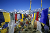 Muktinath, Annapurna area, Mustang district, Dhawalagiri Zone, Nepal: payer flags - 'tarcho' - photo by W.Allg�wer