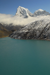 Khumbu region, Solukhumbu district, Sagarmatha zone, Nepal: Gokyo Lake and Taboche peak, 6,542 m - photo by E.Petitalot