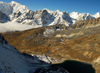 Khumbu region, Solukhumbu district, Sagarmatha zone, Nepal: altitude lake and mountains across Renjo pass - photo by E.Petitalot
