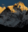 Khumbu region, Solukhumbu district, Sagarmatha zone, Nepal: sunset on Kang Taiga mountain - 6685m - photo by E.Petitalot