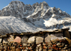 Khumbu region, Solukhumbu district, Sagarmatha zone, Nepal: Gokyo - prayers engraved and painted on mani stones - photo by E.Petitalot