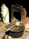 Khumbu region, Solukhumbu district, Sagarmatha zone, Nepal: the instruments of a Tibetan kitchen - photo by E.Petitalot