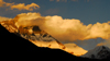 Khumbu region, Solukhumbu district, Sagarmatha zone, Nepal: sunset - windy storm on mount Everest - photo by E.Petitalot