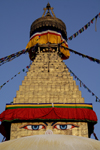 Kathmandu, Nepal: Boudhanath Stupa - the Khasa Caitya - UNESCO World Heritage Site - contains the tomb of a Kasyapa sage venerable both to Buddhists and Hindus - photo by G.Koelman