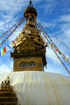 Nepal - Kathmandu valley: Swayambhunath temple - stupa - Chorten - temple of the monkey - Unesco world heritage site - photo by M.Wright