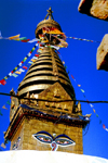 Nepal - Kathmandu: Swayambhunath chorten - stupa - under the eyes of Buddha - UNESCO world heritage site - photo by G.Friedman