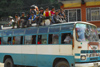 Nepal - Langtang region - people are often in and on top of buses - photo by E.Petitalot