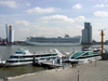 Netherlands - Rotterdam / RTM (Zuid-Holland): cruise ship at World Port Center (photo by P.Willis)