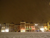 NL - Delft: De Markt - snowy night - swowing (photo by M.Bergsma)