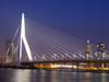 Netherlands - Rotterdam / RTM (Zuid-Holland): Rotjeknor - Erasmus bridge / Erasmus Brug (photo by M.Bergsma)