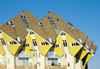 Netherlands - Rotterdam: Cube Houses - designed by architect Piet Blom - Overblaak Street - Kubuswoning - photo by A.Bartel