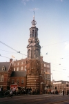 Netherlands / Holland - Amsterdam: the Munttoren, the Mint Tower - clock tower (photo by M.Torres)