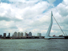 Netherlands - Rotterdam / RTM (Zuid-Holland): Rotjeknor - Erasmus bridge / Erasmus Brug - designed by Ben Van Berkel and Freek Loos with UN Studio (photo by M.Bergsma)