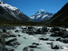 62 New Zealand - South Island - Aoraki / Mt. Cook National Park - the mountain and the river - Canterbury region (photo by M.Samper)