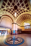 16 New Zealand - North Island - Wellington - railway station - under the dome - photo by Miguel Torres