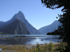 New Zealand - South island - Milford sound: Mitre Peak from lookout on walking track - photo by Air West Coast