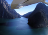 New Zealand - South island - Milford sound: from the air - photo by Air West Coast
