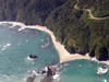 New Zealand - South island - Milford: coast road above beach near Bruce Bay - photo by Air West Coast