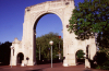 New Zealand - South island: Christchurch - Bridge of Remembrance - arch - photo by Air West Coast