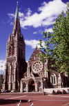 New Zealand - South island: Christchurch - the city's Anglican cathedral, Christ Church - photo by Air West Coast