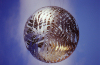 New Zealand -  North island - Wellington: civic centre fern globe - photo by Air West Coast