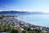 New Zealand - South island - Kaikoura: village and mountainscape (photographer Rod Eime)