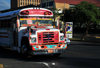 Managua, Nicaragua: bus entering Av. Bolivar, near the Parliament building - photo by M.Torres
