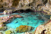 Niue: Avaiki Cave, in the west coast, north of the capital Alofi, is a favourite swimming and snorkelling spot - photo by R.Eime