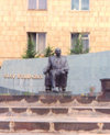 Nagorno Karabakh - Xankandi / Stepanakert: chairman - statue - monument - photo by M.Torres